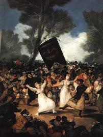 """Cuadro """"El entierro de la sardina""""(Goya)"""