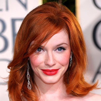 christina hendricks hairstyles