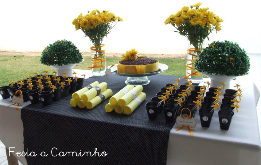 decoracao azul e amarelo para aniversario:Decoracao De Aniversario Preto E Amarelo