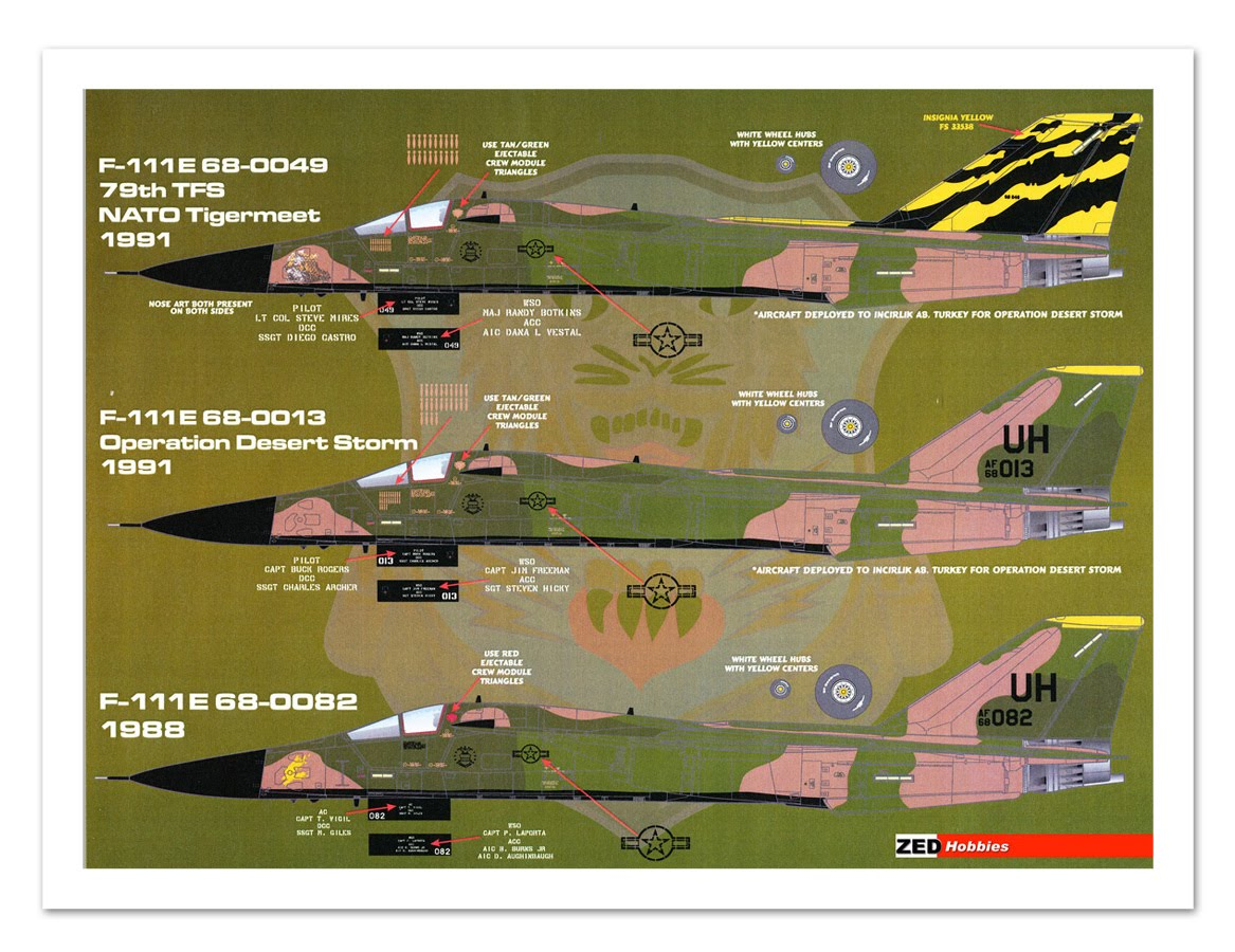 ... Hobbies: Review: Afterburner Decals F-111E 20thTFW Upper Heyford 1/48