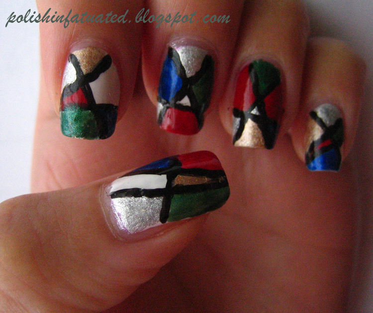 Stained Glass Nail Art: Stained Glass Window