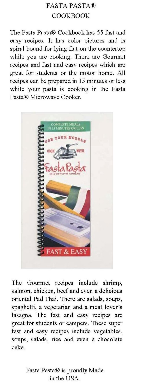 fasta pasta how to use