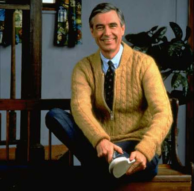 Apparently I'm Mr. Rogers