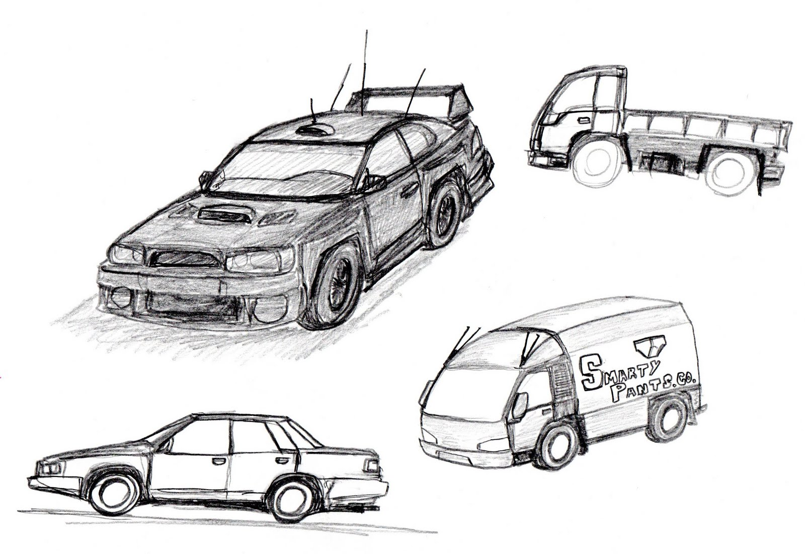 Old drawings: Cars