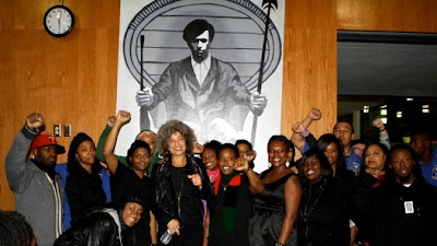Angela Davis with Merritt College Black Student Union