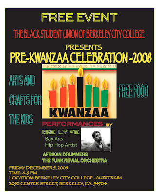 Pre Kwanzaa at Berkeley City College