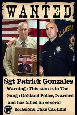 Killer Oakland Police cop Patrick Gonzalez identified