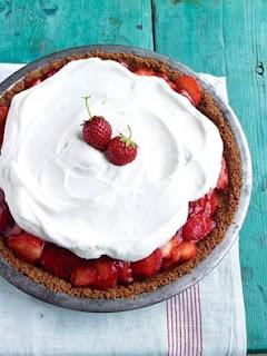 strawberry icebox pie