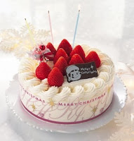 strawberry christmas cake pic
