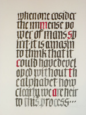 DeAnn Singh Calligraphy: New Semester at Beverly Hills: Gothic Textura