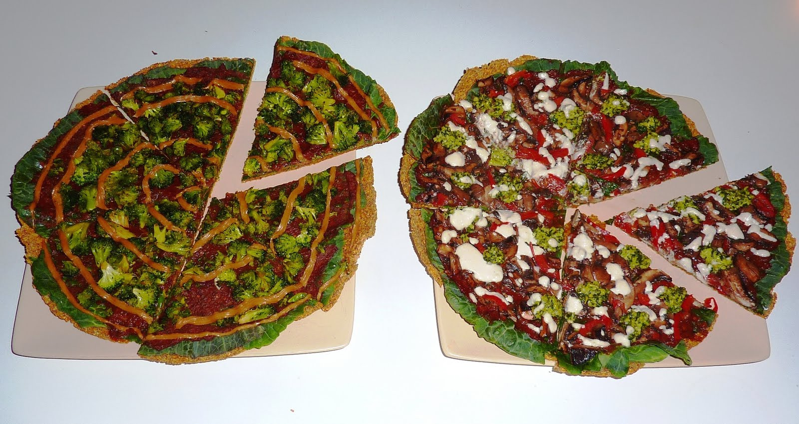 Two raw pizzas or salads for those without dehydrators better raw having a great recipe for the pizza base and sauce already see previous post the 2 pizzas i decided to create were 1 mushroom and basil pesto forumfinder Images