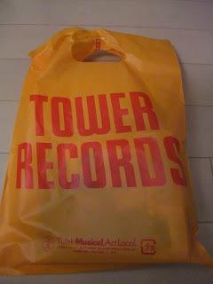 タワーレコードの手提げ袋