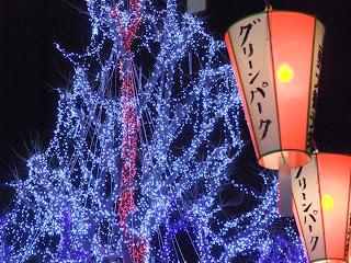 上野恩賜公園の提灯とイルミネーション