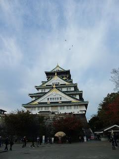 大阪城の菊花展の扇型の菊
