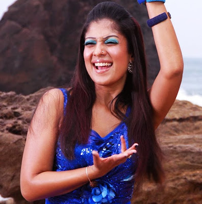Nayanthara dancing in a nose ring