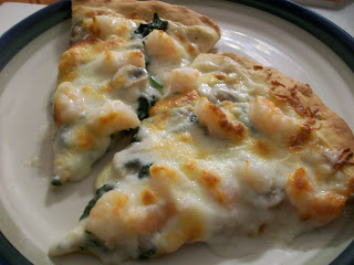Cook with Sara: Garlicky Shrimp and Spinach Pizza