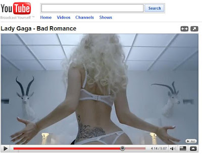 lady gaga tattoo back. LADY GAGA BAD ROMANCE TATTOO