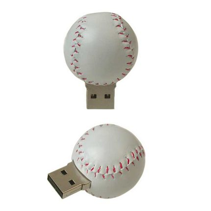 Baseball USB flash memory disk