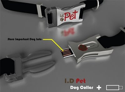 Dog Collar with Embedded USB Thumb Drive