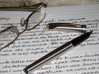 Twitter follow friday: Writers - Pen, glasses, and notepad
