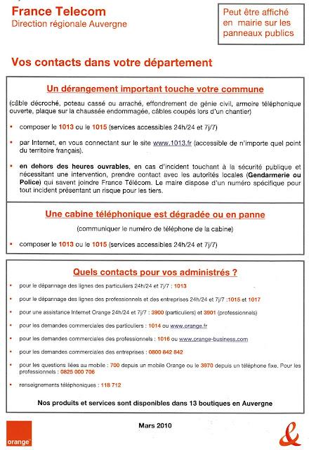 Informations pratiques france telecom d rangements - 1013 fr derangement ...