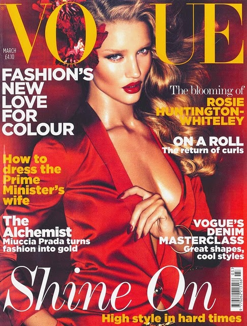 rosie huntington whiteley vogue. Vogue Uk March 2011 Rosie