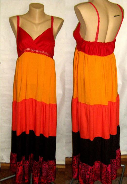 Rochie pe portocaliu nr.93