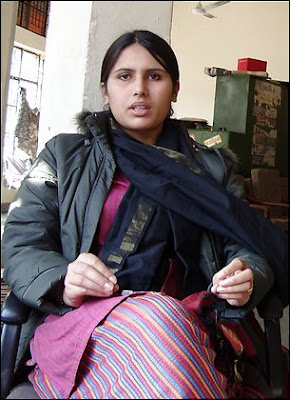 Sabra Ahmadzai, a 20-year old Afghan woman, finished high school and came to India in November to look for her Indian army husband who deceived, married and abandoned her. (Rama Lakshmi - The Washington Post)