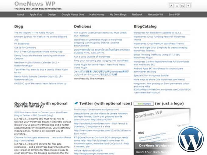 OneNews Premium – Aggregator | Free Template Gallery