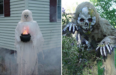 decorate your pumpkin with glitter rhinestones masks and more besides you could add your garden by funny ghosts different undead skeletons and