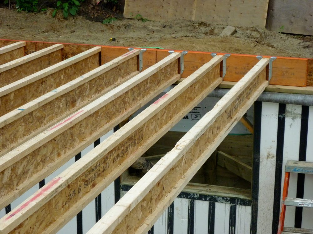 Entry 41 main floor framing building black oaks Floor trusses vs floor joists