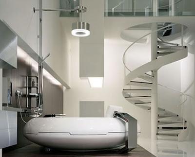 Desain Kamar Mandi Unik on Interior Design  Kamar Mandi Mewah Dengan Desain Futuristic