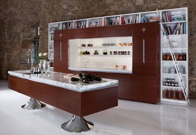 Library kitchen: beautiful and functional kitchen designs