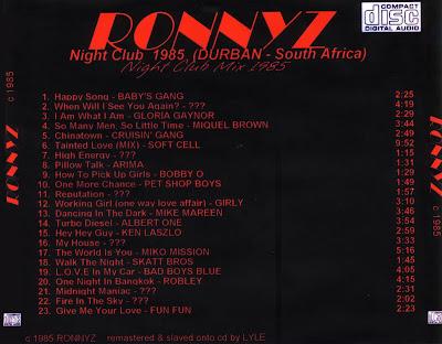 RONNYZ - 1985 non-stop original night club dj mix