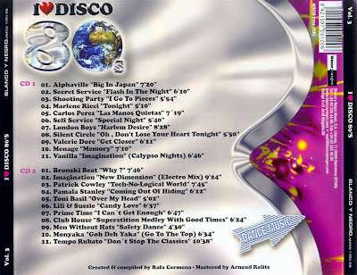 I Love Disco 80's - Vol.3 - Various Artists (2CD Set)