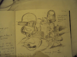 Still life sketch of man made objects