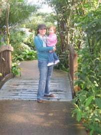Mom and Savannah at Butterfly Pavillion