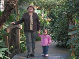 Grandma and Savannah at Butterfly Pavillion