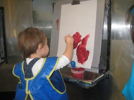Our artist (at the Childrens Museum)