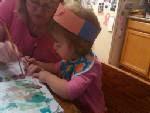 Savannah having fun at grandmas!