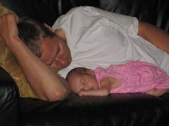 Enjoying a lazy Sunday with Dad