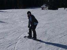 Stephie on the slopes...she's a natural