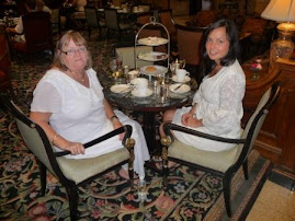 Enjoying high tea at the Brown Palace