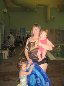 Swimming with Grandma Linda