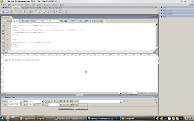 dreamweaver in linux wine