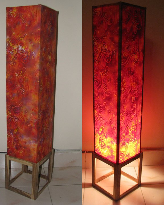 Lamp shade floor lamp our first sale indian woodworkingdiy diy floor lamplamp shade aloadofball