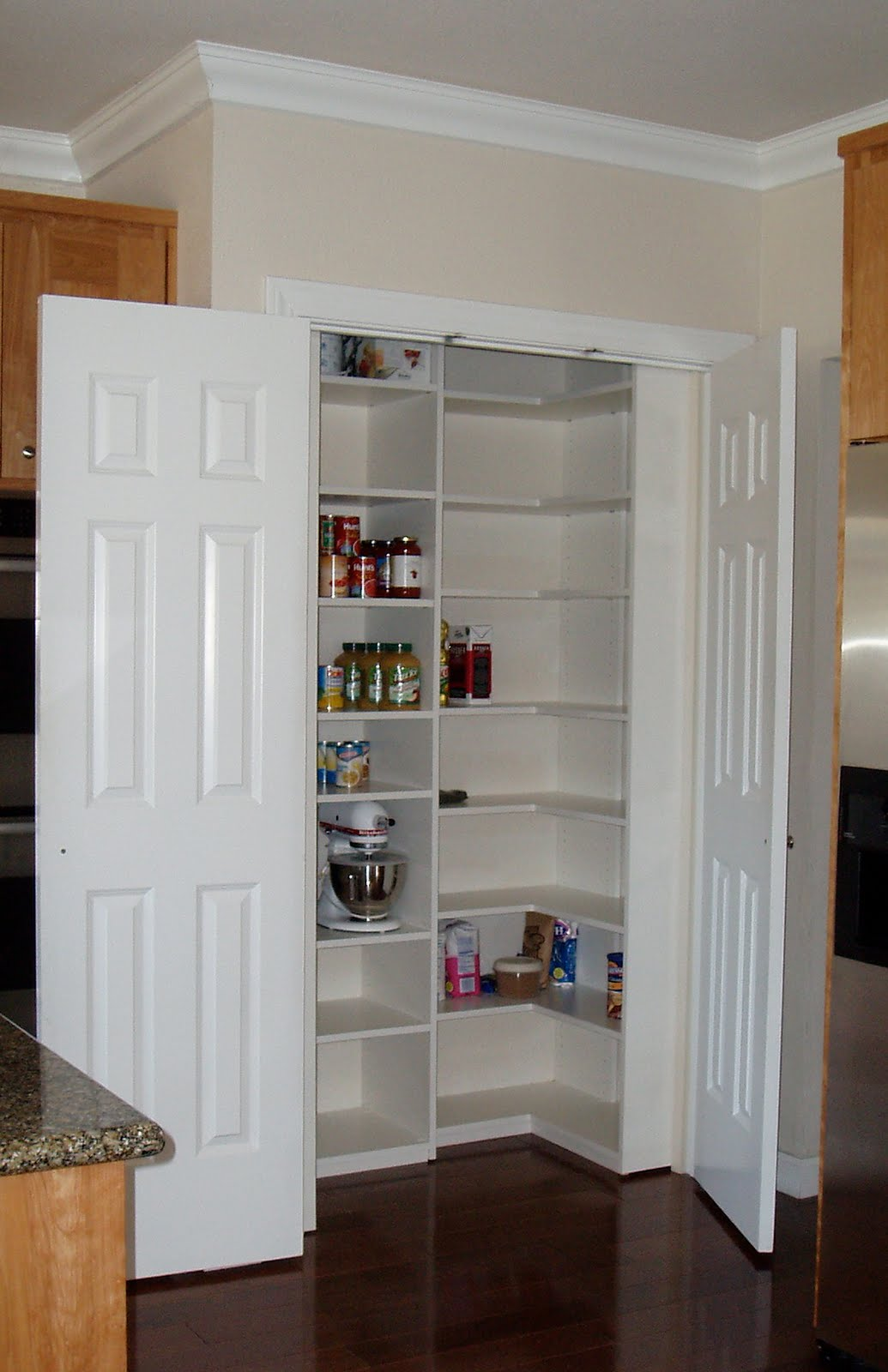 Malka in the closet pantry transformation for Kitchen closet