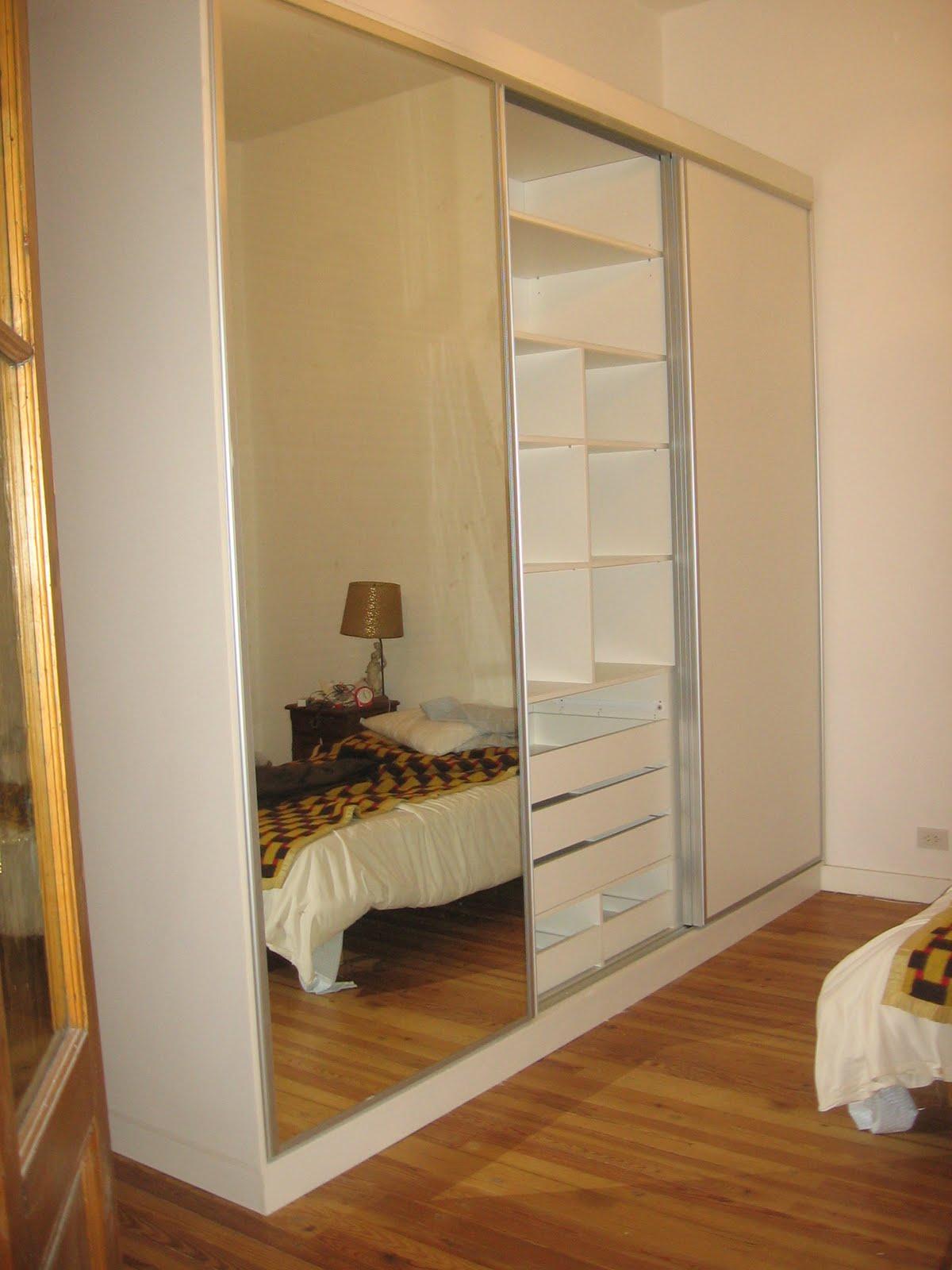 Muebles a tu medida placard con puerta de espejo - Puertas de espejo ...