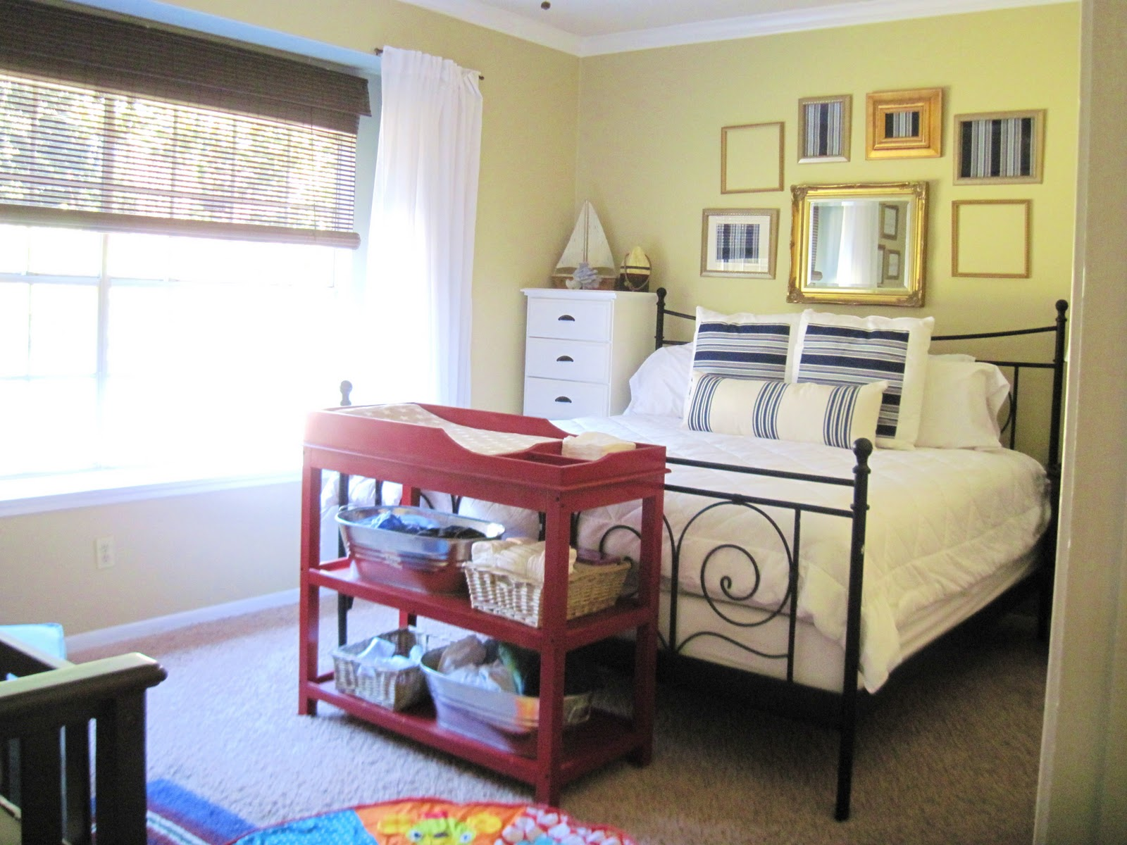 Master bedroom nursery combined Master bedroom with nursery ideas