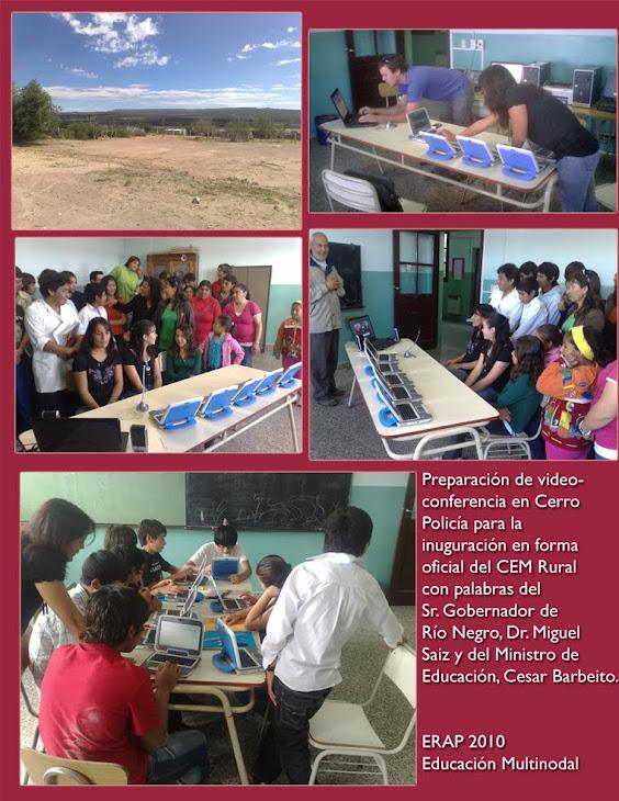 La escuela en el medio de la estepa patagonica colaborando con el CEM Rural